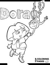 Most children love to watch dora the explorer. Free Dora Coloring Pages Sheets Topcoloringpages Net