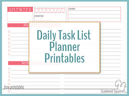 printable task lists use a daily task list planner to avoid feeling overwhelmed