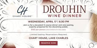 Chart House Drouhin Wine Dinner Lake Charles La At Chart