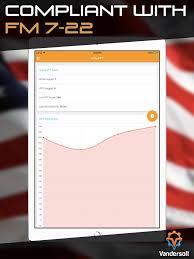 Army Apft Chart Walk Army Prt U S Army Apft Calculator On The App Store