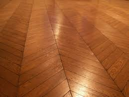 ... Chevron or French herringbone floor