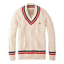 Design Workers Striped Crew Neck Sweater Jack Wills Bettison Cricket Jumper Menswear Mens Tops
