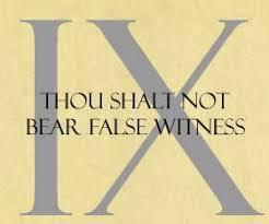 Image result for thou shalt not bear false witness pictures