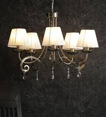 brass shade glass chandelier by