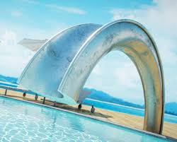 cool swimming pools with slides. Plain With If Itu0027s Hip Here Archives The Coolest Swimming Pool Slide Ever  Carbon Fiber Silver Leafed Shoot Slide In Cool Pools With Slides W