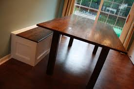 Jack S Arts Crafts Table And Built In Storage Bench The Wood