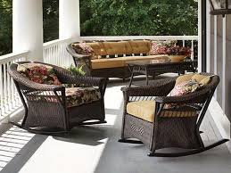 ... Dark Brown Square Modern Rattan Front Patio Furniture Stained Design  For Front Porch Patio