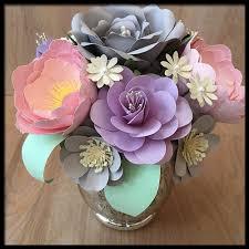 Paper Flower Centerpieces At Wedding Amazon Com Pastel Paper Flower Centerpiece Handmade Floral