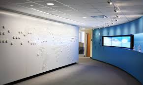 3d World Map Wall Graphic For The Workplace Branding And