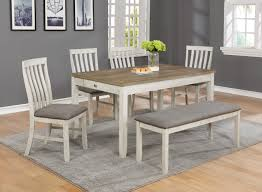 Antique White Driftwood Oak Dining Set My Furniture Place