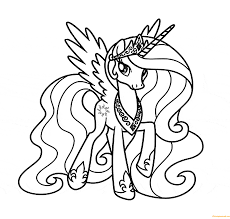 Small Picture Princess Celestia Coloring Page Free Coloring Pages Online