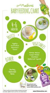 Baby Food Chart 4 6 Months Babys First Year Baby Food