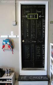 chalkboard paint diy door
