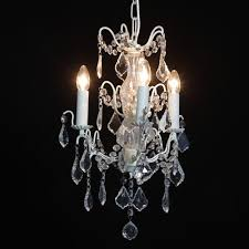 3 branch french antique le white chandelier