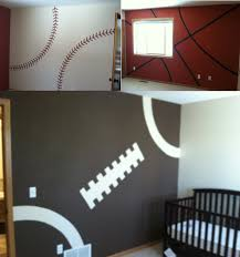 boys sports bedroom decorating ideas. Sports Quilt Comforter Brown Wooden Frames Aeroplan Wall Decals Boys Themed Bedroom White Color Covered Bedding Decorating Ideas