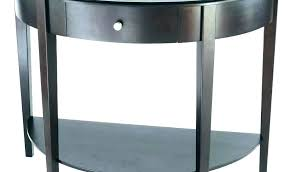 half round console table with drawers black half moon table console