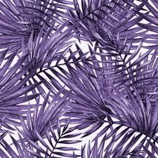 Palm Leaf Pattern Enchanting Palm Leaf Pattern Removable Wallpaper In Violet By Wallspruce