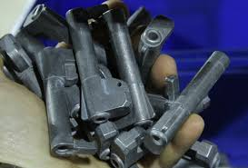 taurus usa firearm factory miami florida photo essay next we stopped at barrels these are cast barrel assemblies for the same guns