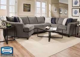 hudson sectional sofa gray