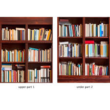 door wall sticker bookshelf self adhesive l stick repositionable fabric mural 31 w x 79 h 80 x 200cm