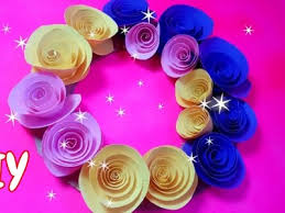 wall hanging idea paper flower decoration craft wall