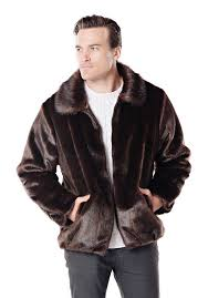 sable faux fur men s er jacket