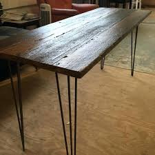 reclaimed wood office furniture. Reclaimed Wood Desk With Steel Hairpin Legs Table Top For Sale . Office Furniture