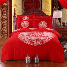 traditional bedding sets. Perfect Sets Traditional Chinese Wedding Bedding Set Red Bedlinen 100 Cotton Duvet  Cover Bed Sheet Queen With Sets A