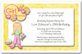 How To Make A Sleepover Invitation Blonde Hair Girl Pajama Party Sleepover Invitations Birthday