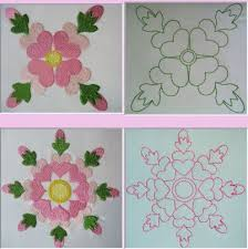 Rose of Sharon Quilt Block Set - $12.00 : The Country Needle ... & Rose of Sharon Quilt Block Set Adamdwight.com