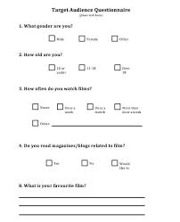 audience analysis example week 8 target audience questionnaire a2 media