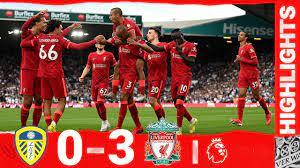 Highlights: Leeds United 0-3 Liverpool | Salah, Fabinho & Mane on target at  Elland Road - YouTube