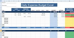 Excel Expense Template