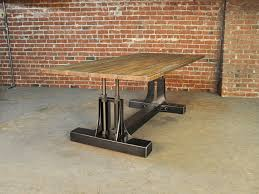 conference room chairs with casters. Post Industrial Table Vintage Furniture Leather Conference Room Chairs With Casters