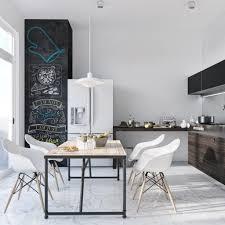 White Pendant Lights Kitchen Kitchen White Chairs Scandinavian Monochrome Kitchen Black