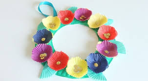 Paper Flower Crafts For Kindergarten Cupcake Liner Flower Wreath Play Cbc Parents