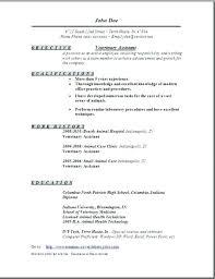 Veterinary Resume Inspiration Veterinary Technician Resume Vet Tech Resume Skills Sample Resumes