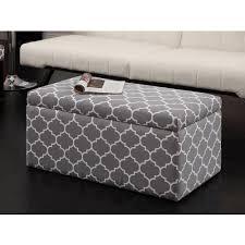 emily rectangular storage ottoman gray  walmartcom