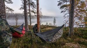 spending a night in a hammock in every season