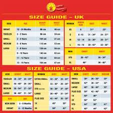 Size Chart Yalla Costumes