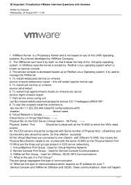 30 important virtualization vmware interview questions answers