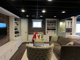 painted basement ceiling. How To Paint Basement Ceiling Eclectic Family Room Also Blue Brick Butlers Pantry Painted