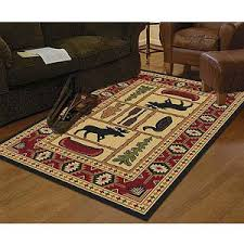 Rustic rug from Walmart