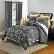 simple bedroom with fl pattern grey curtain and fl yellow grey bed comforter sets bedroom