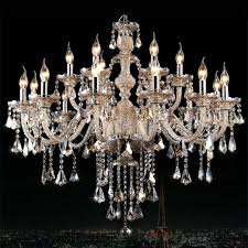 modern crystal chandelier cognac luxury large ceiling light 2 tiers living 15 lights us stock