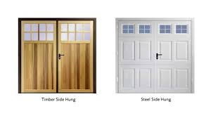 side hinged garage doorsGarador Steel Side Hinged Garage Doors  YouTube