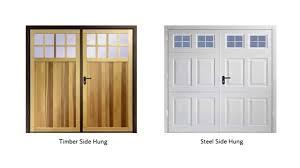 garador steel side hinged garage doors