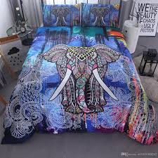 home textils india colorful 3d elephant bedding set mandala duvet cover pillowcases twin uk queen king size for kids gifts duvet cover set
