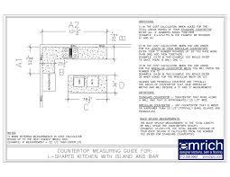 Measuring For Granite Kitchen Countertop Granite Countertop Cost Calculator Emrichprocom