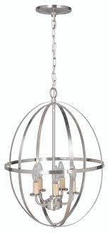 nickel orb chandelier orb chandelier brushed nickel